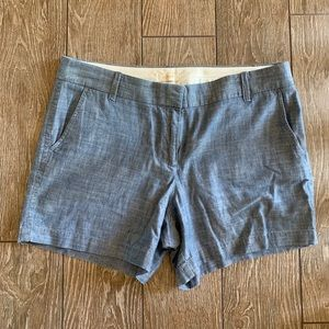 Chambray JCrew shorts
